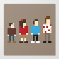 seinfeld Canvas Prints featuring Pixel Seinfeld by Vectorific Design