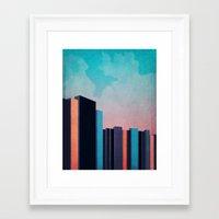 skyline Framed Art Prints featuring Skyline by Nope