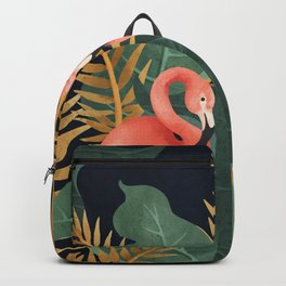 Two Flamingos Backpack