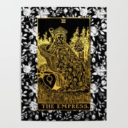 Floral Tarot Print - The Empress Poster