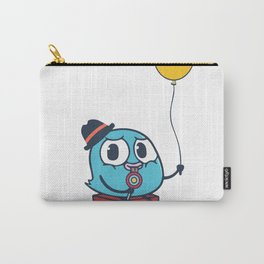 Funny Cute Bird And Balloon Carry-All Pouch