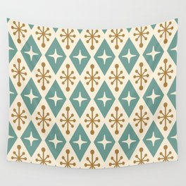 Mid Century Modern Atomic Triangle Pattern 102 Wall Tapestry