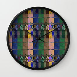 moje miasto_pattern no5 Wall Clock
