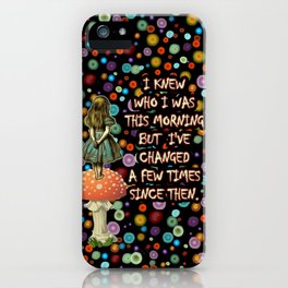 Alice In Wonderland Magical Colorful Night Quote iPhone Case