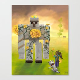 Taming the King Canvas Print