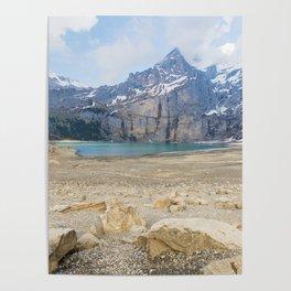 Oeschinen Lake Bernese Oberland Switzerland Poster