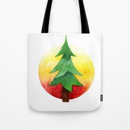 The Pine Guard Watercolor Logo Tote Bag