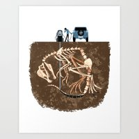 pocket fuel Art Prints featuring Fossil Fuel by Supuru