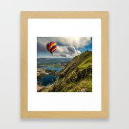 Snowdon Hot Air Balloon Framed Art Print