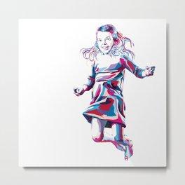 Little Girl Metal Print