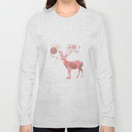 Flower deer Long Sleeve T-shirt