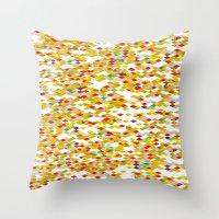 confetti Throw Pillows featuring Confetti by Simi Design