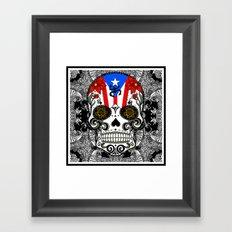 Rican Sugar Skull Framed Art Print