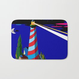 A Night at the Lighthouse with Search Light Active Bath Mat