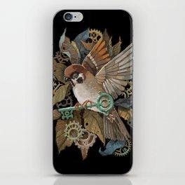 Clockwork Sparrow iPhone Skin