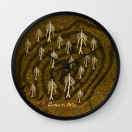 Ethnic 4 Canary Islands / Crowd in the Maze Wall Clock