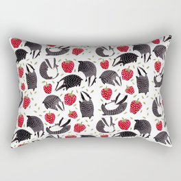 Badgers and Strawberries Rectangular Pillow
