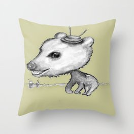 NORDIC ANIMAL  - BOBO THE BEAR / ORIGINAL DANISH DESIGN bykazandholly  Throw Pillow