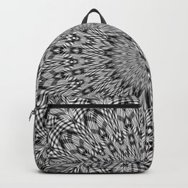 Intricate Grey Tone Mandala Pattern Backpack