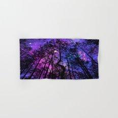 Black Trees Purple Fuchsia Blue space Hand & Bath Towel
