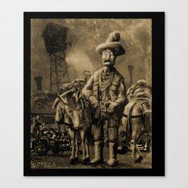 George Atherton. Tintype Canvas Print