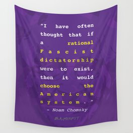 Noam Chomsky Quote Wall Tapestry