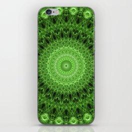Pretty green mandala iPhone Skin