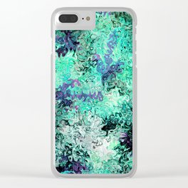 So Undecided, Abstract Art Swirls Pattern Clear iPhone Case