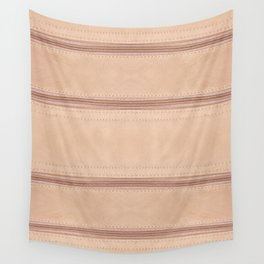 Beige zipper on leather cloth texture Wall Tapestry