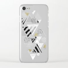 Geometric abstract triangles Clear iPhone Case