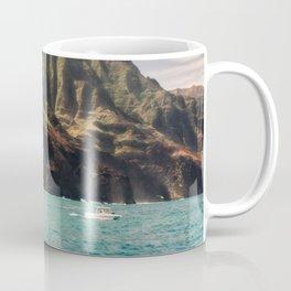 Na Pali Coast Kauai Hawaii Printable Wall Art | Tropical Beach Nature Ocean Coastal Travel Photography Print Coffee Mug