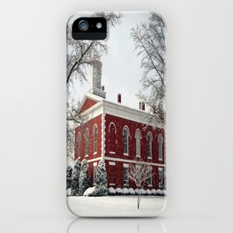 Side View of the Iron County Courthouse iPhone Case