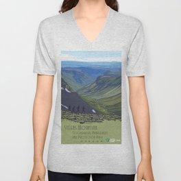 Vintage Poster - Steens Mountain Protection Area, Oregon (2015) Unisex V-Neck
