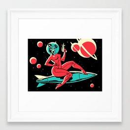 Laika Pin Up Framed Art Print