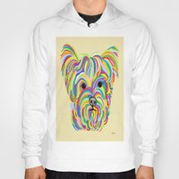 yorkie Hoodies featuring Yorkshire Terrier - YORKIE! by EloiseArt