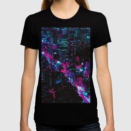 Cyberpunk Vaporwave City T-shirt