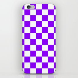 Checkered - White and Violet iPhone Skin