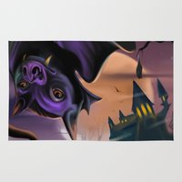 bat Area & Throw Rugs featuring Bat by Brandon Heffron