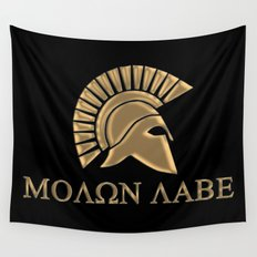 Molon lave-Spartan Warrior Wall Tapestry