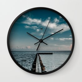 Fly 2 the Pier - LG Wall Clock