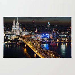 Cologne Cathedral and Hohenzollern Bridge Rug