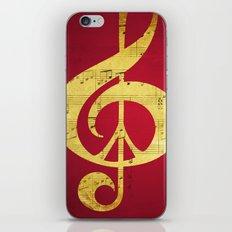 Music & Peace Sheet Music iPhone & iPod Skin