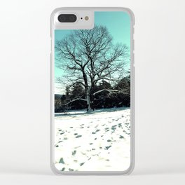 Wise Winter Tree Clear iPhone Case