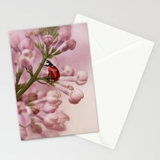 Ladybird on Lilacs Stationery Cards
