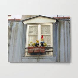 Dwarfs on Window Box Metal Print