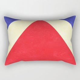 Red, Blue and Cream Rays Rectangular Pillow