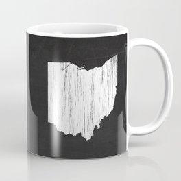 Ohio State Map Chalk Drawing Coffee Mug