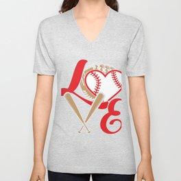 Baseball Lovers Softball Mom Fan Gift Unisex V-Neck