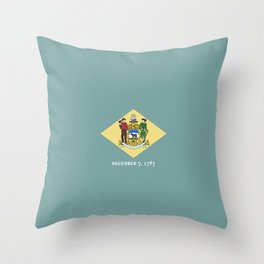 flag delaware,america,usa,Blue Hen,mid-altlantic, Delawarean,Small Wonder,Wilmington,Dover,Newak Throw Pillow