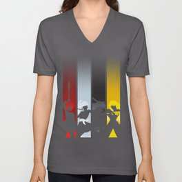 Silhouetted Huntresses Unisex V-Neck
